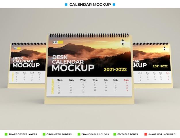 Maqueta de calendario de escritorio aislado