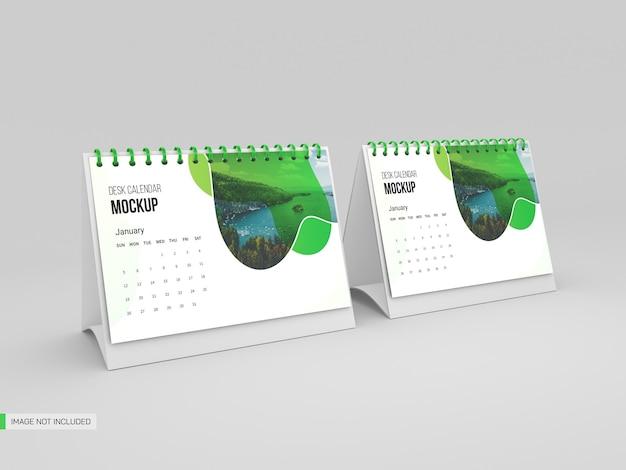 Maqueta de calendario de escritorio