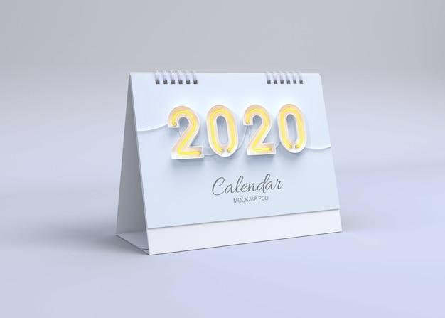 Maqueta de calendario horizontal
