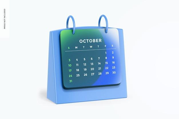 Maqueta de calendario de mesa