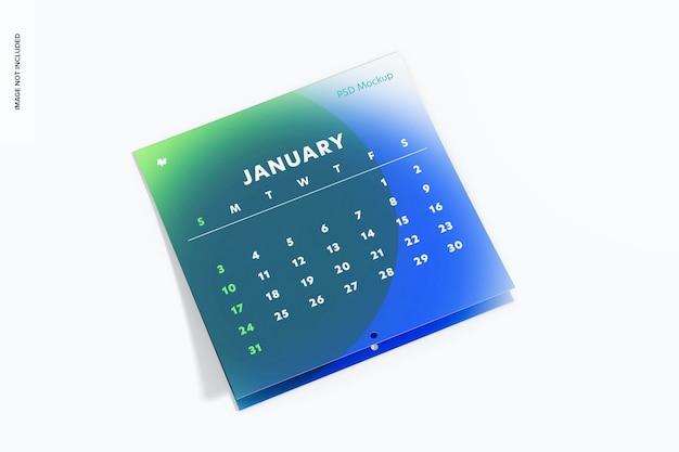Maqueta de calendario de pared, cayendo