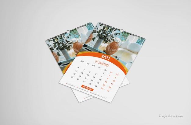 Maqueta de calendario de pared, maqueta de calendario