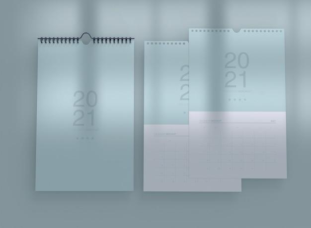 Maqueta de calendario vertical