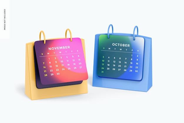 Maqueta de calendarios de mesa