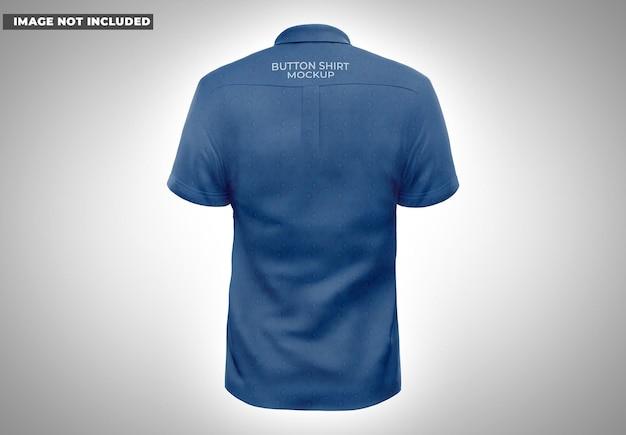 Maqueta de camisa con botones back vie