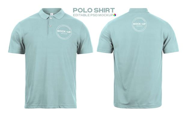 Maqueta de camisa de polo realista