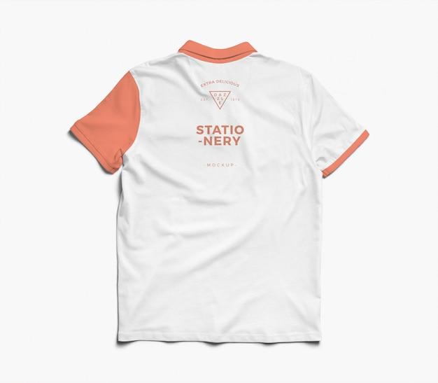 Maqueta de camisa de polo trasera