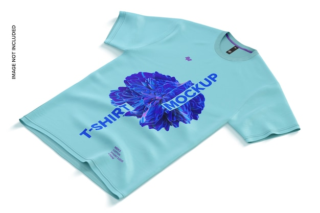 Maqueta de camiseta de algodón de manga corta para hombre