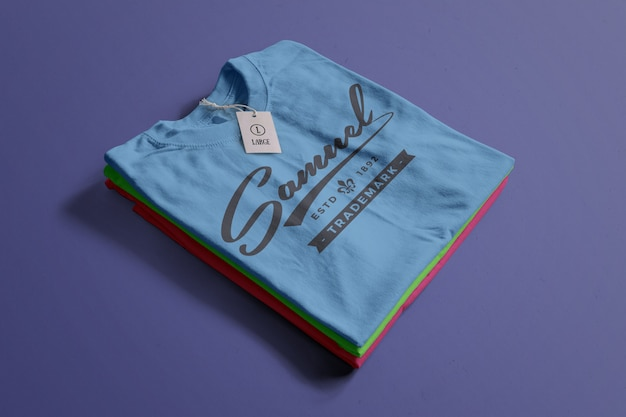 Maqueta de camiseta de color