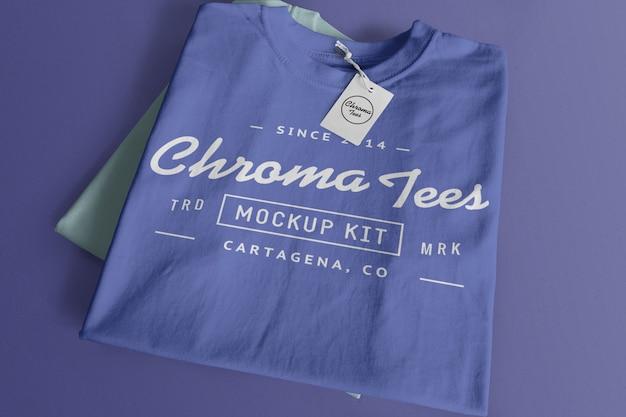 Maqueta de camiseta de cromatos