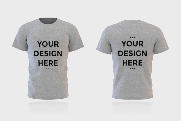 Maqueta de camiseta delantera y trasera de escaparate aislada