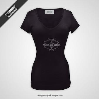 Maqueta de camiseta femenina