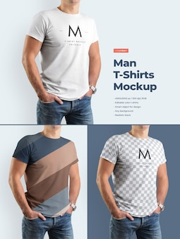 Maqueta de camiseta de hombre