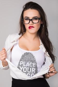 Maqueta de camiseta de mujer