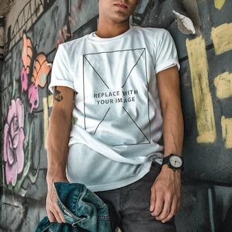 Maqueta de camiseta de plantilla de ropa casual