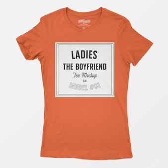 Maqueta de camiseta de señoras el novio