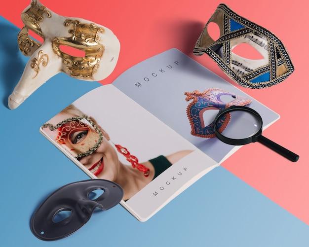 Maqueta de carnaval con objetos editables isométricos