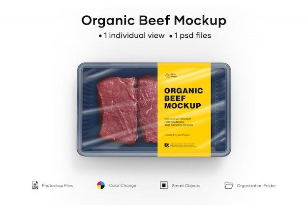 Maqueta de carne orgánica