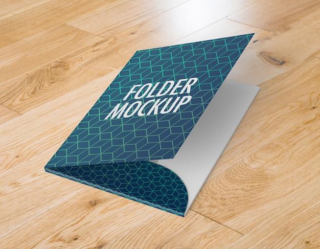 Maqueta de carpeta comercial a4