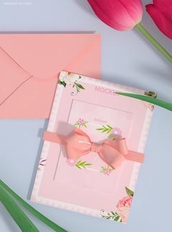 Maqueta de carta de invitación de boda