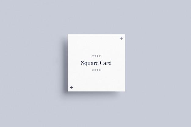 Maqueta de cartas cuadradas