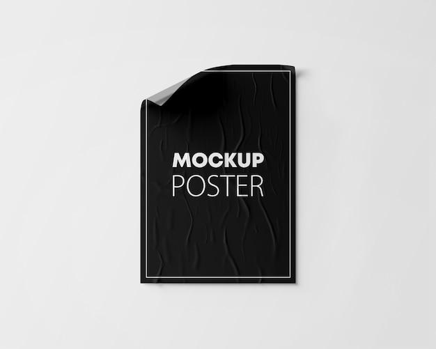 Maqueta de cartel arrugado
