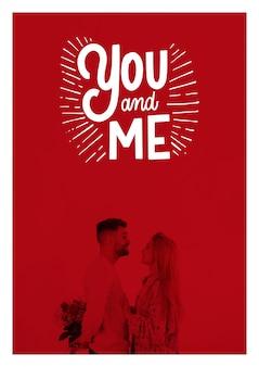 Maqueta de cartel del día de san valentin