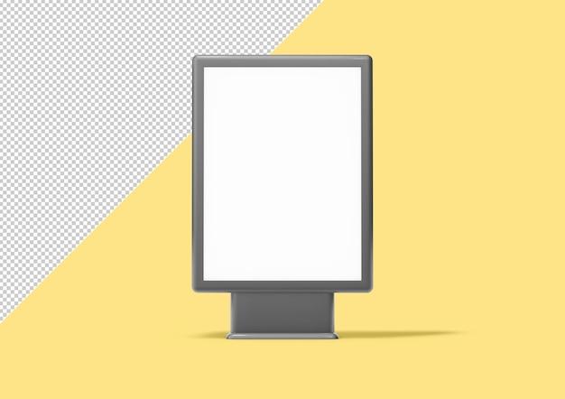 Maqueta de cartelera, renderizado 3d