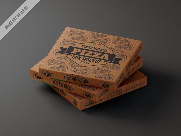 Maqueta de cartón de caja de pizza