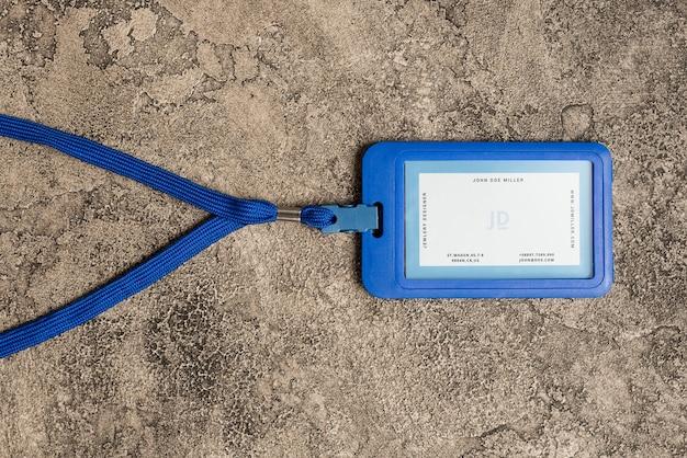 Maqueta de cascara de tarjeta de identificación