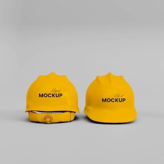 Maqueta de casco de construcción 3d