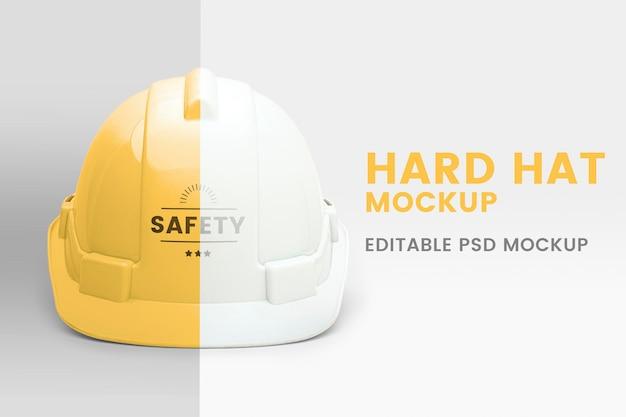 Maqueta de casco de ingeniero psd equipo ppe