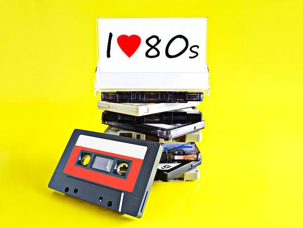 Maqueta de cassette retro