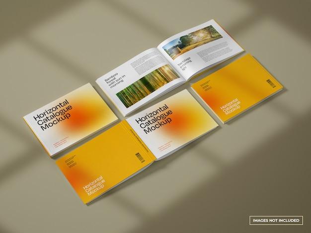 Maqueta de catálogo horizontal