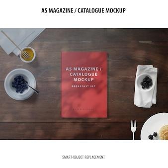 Maqueta del catálogo de la revista a5