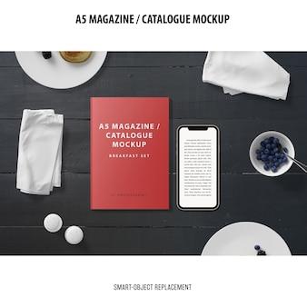 Maqueta del catálogo de la revista