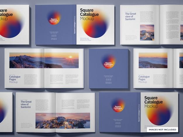 Maqueta de catálogos y revistas