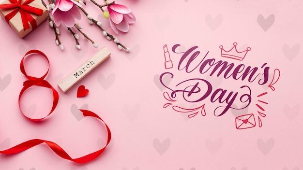 Maqueta de celebración del día de la mujer