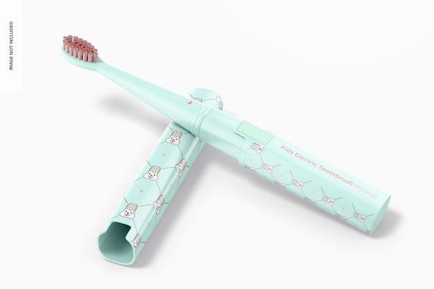 Maqueta de cepillo de dientes eléctrico para niños, perspectiva