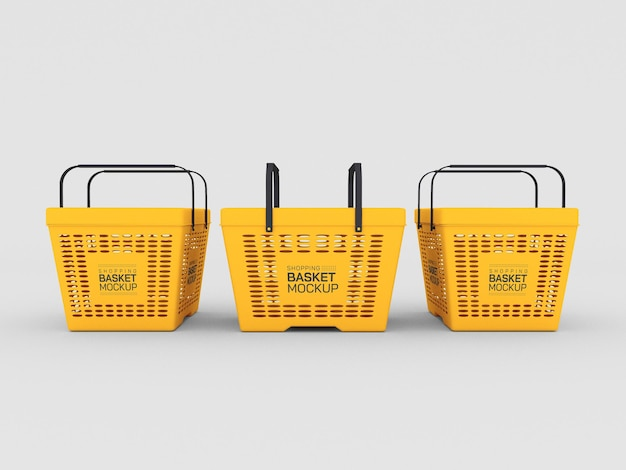 Maqueta de cestas de compras