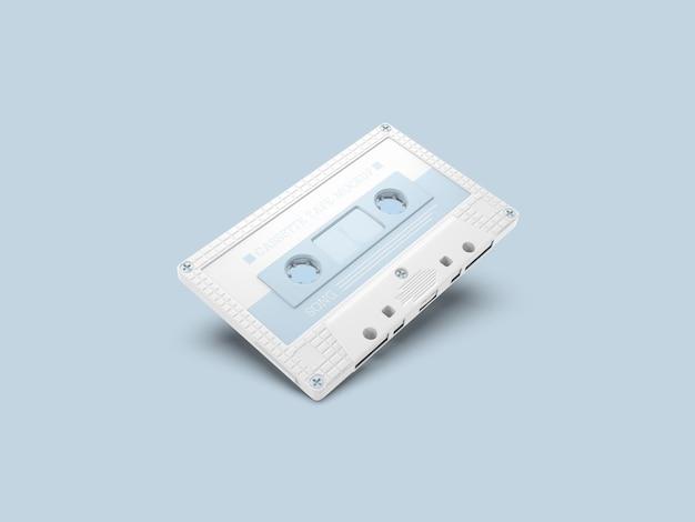 Maqueta de cinta de cassette retro