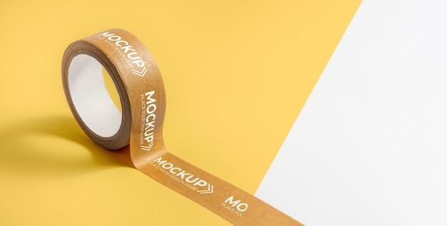 Maqueta de cinta de embalaje con espacio de copia