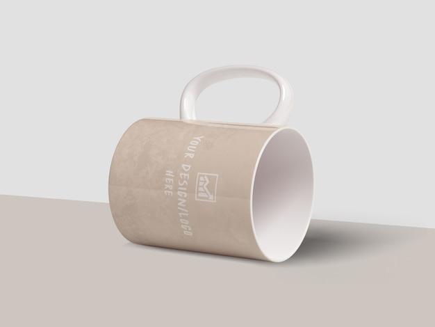 Maqueta clásica de taza de café