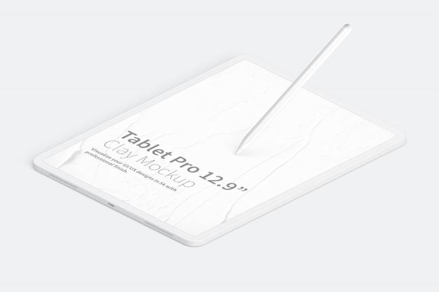 Maqueta clay tablet pro de 12.9