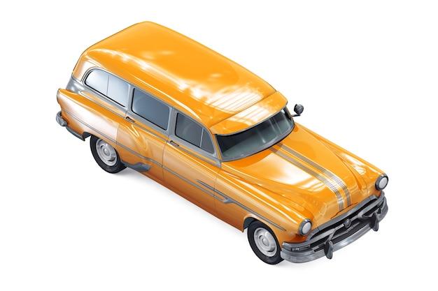 Maqueta de coche combi de vagón retro 1953