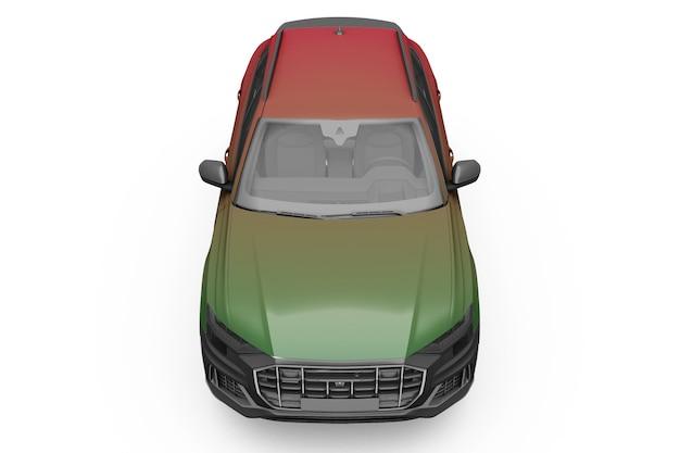 Maqueta de coche diseño aislado
