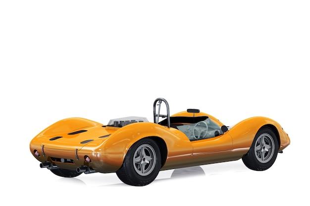 Maqueta de coche retro deportivo