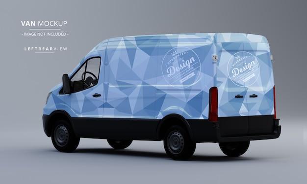 Maqueta de coche utilitario genérico maqueta de furgoneta con vista trasera izquierda
