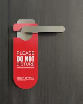 Maqueta de colgador de puerta
