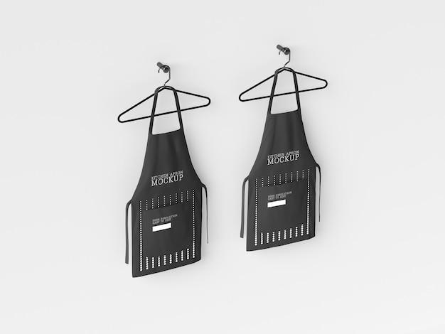 Maqueta para colgar delantales de cocina